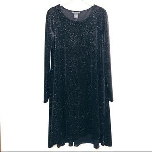 NWT Chelsea + Theodore Sparkly Long Sleeve Dress